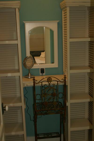 third floor Master Bath- make up dresser