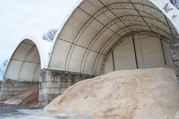 02/011/19 Wesley Bunnell | Staff Sand, L, and salt stockpiles at the New Britain City Works Department.