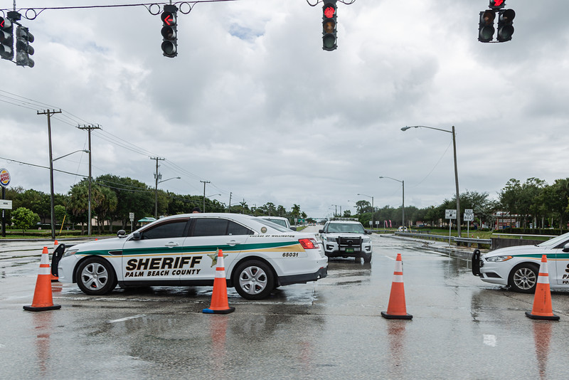 Eastbound Lake Worth Road is closed at US 441 after a gas line explosion at Lake Worth Road closed sections of Lake Worth Road and the turnpike, Thursday, September 24, 2020. [JOSEPH FORZANO/palmbeachpost.com]