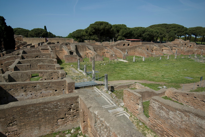 Baths of Neptune in Ostia Antica, Italy