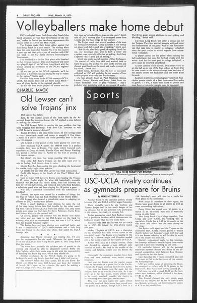 Daily Trojan, Vol. 61, No. 89, March 11, 1970