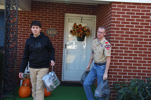 2014,  Scouting for Food Food Drive