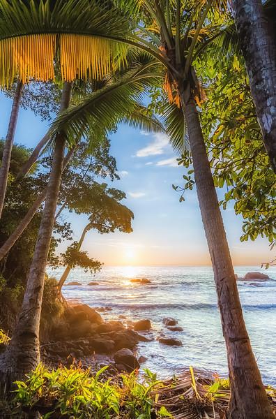 Warm sunset near Dominical, Costa Rica