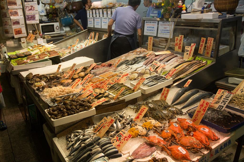 Nishiki Market fish monger