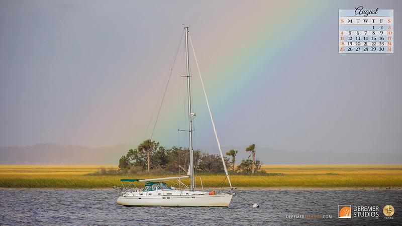 2019 Calendar - Amelia Island FL 08 August - Deremer Studios LLC