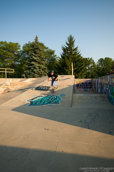 James at the Skate Park