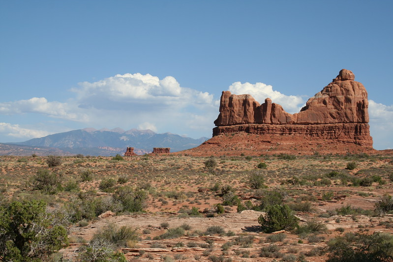 20080908-104 - Arches NP - 92 LaSal Mountains in Background.JPG