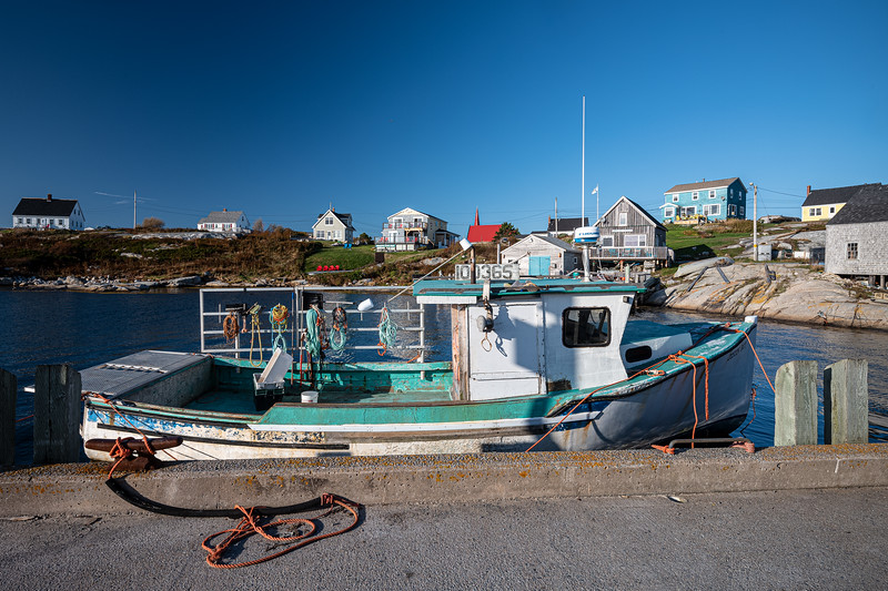 turquoise fishing boat Peggy's Cove.jpg