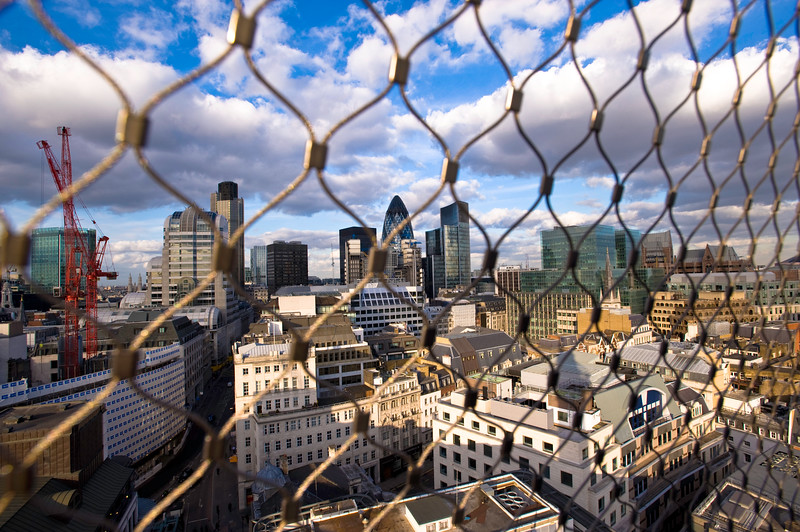 View of the City from The Monument, London, United Kingdom