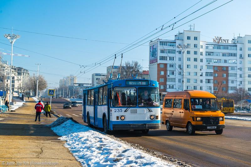 Trolley bus at Tiraspol