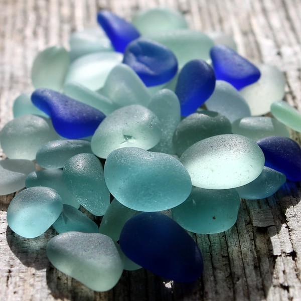 Sea Glass Blues with Cobalt Blue