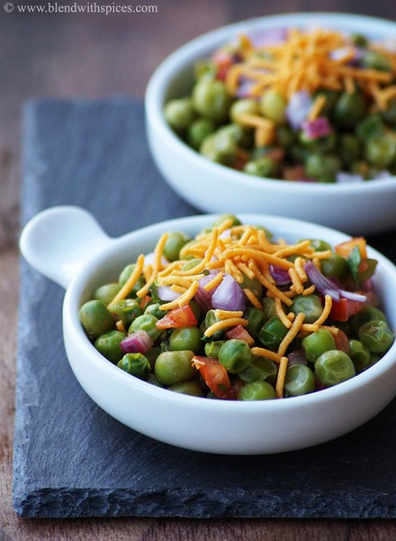 Matar Chaat (Green Peas Chaat)