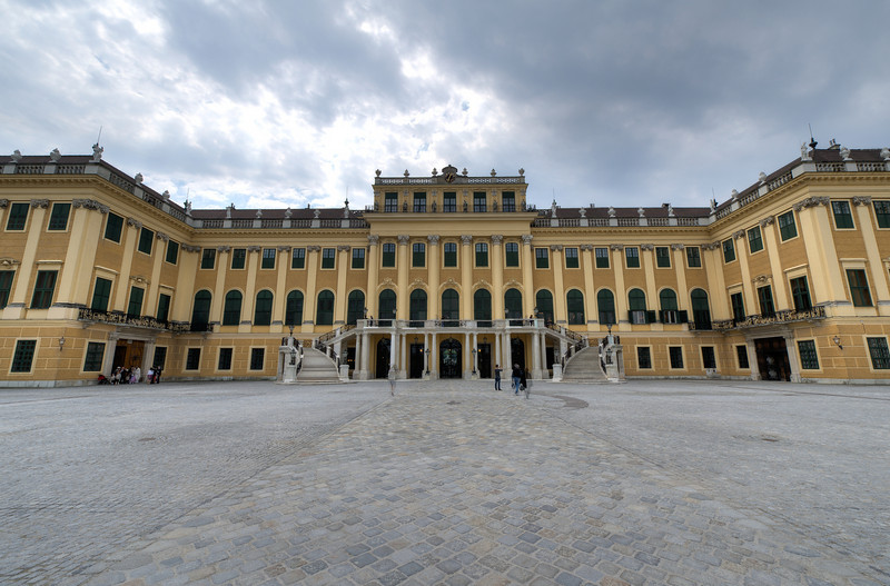 Heavy clouds above the Schonbrunn Palace - Vienna, Austria