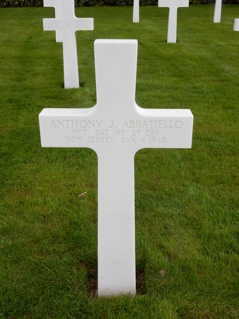 Graves of 87th Division Soldiers Buried at Luxembourg