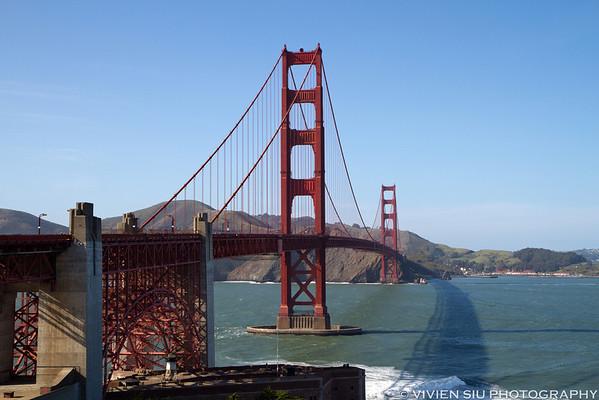 Golden Gate Bridge and Twin Peaks