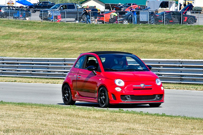2020 SCCA July 29 Pitt Race Interm Red Fiat
