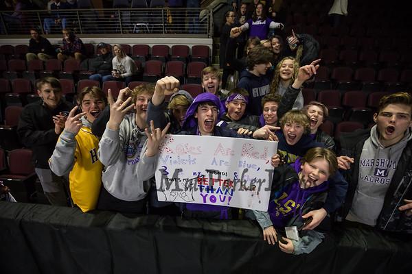 2020-2-21 Marshwood Girls Basketball vs Greely, awards
