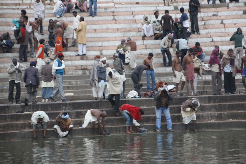 washing at ghats on Ganges