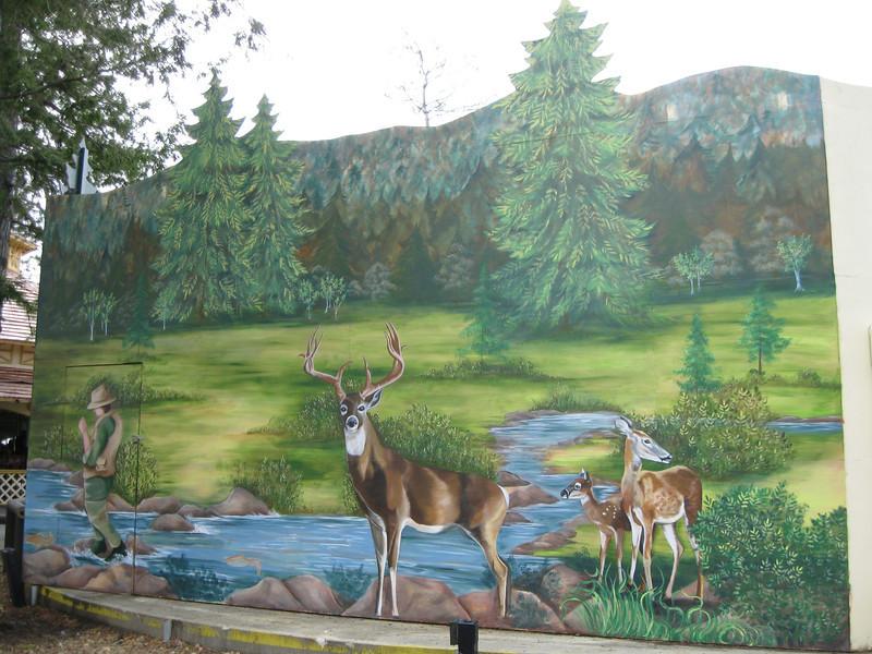 Mural behind Equinox.