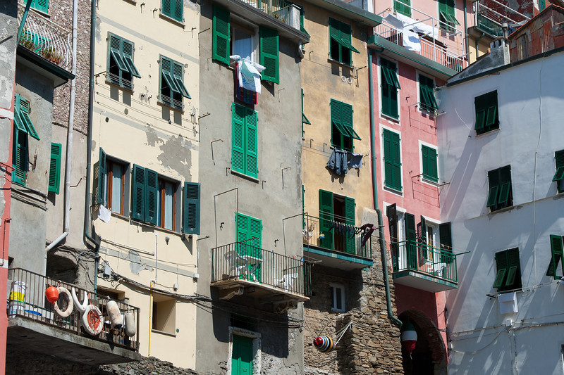 Apartment-type buildings spotted in Cinque Terre, Italy