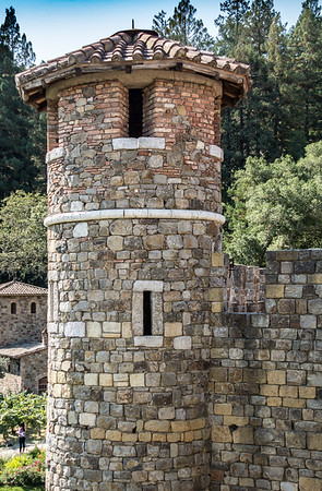 Stone Tower at Castillo De Amorosa Winery in Napa Ca.