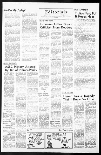 Daily Trojan, Vol. 57, No. 51-A, December 06, 1965