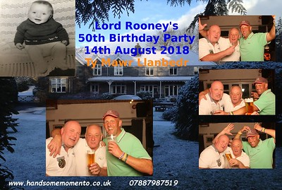 Lord Rooney's 50th Birthday Party at The Ty mry Llanbedr 29-07-18