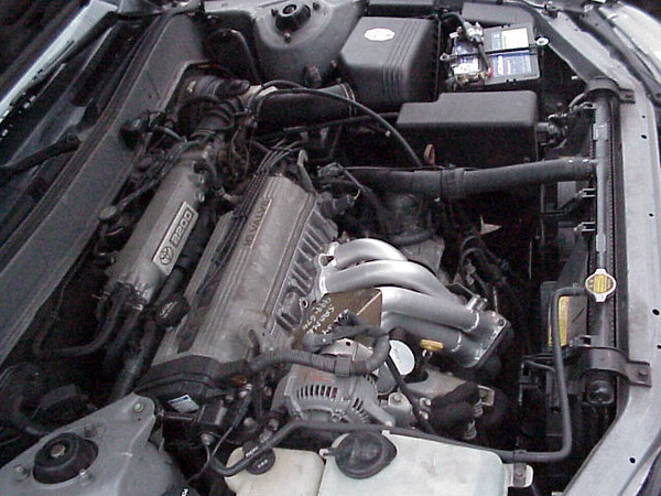 Header in engine bay