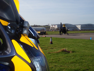 Police Helicopter Visit, March 2009