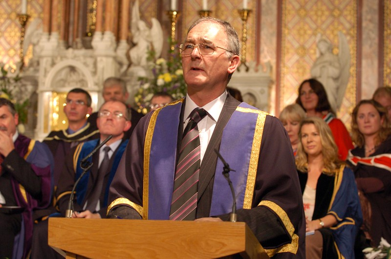 Provision 251006Denis Moran (Head of the School of Engineering at WIT) delivers a speech to graduates at WIT's graduation ceremony on Wednesday 25th October.PIC Bernie Keating/Provision