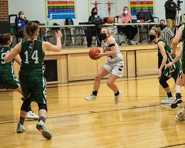 2021 Varsity Girls Basketball:  Hall-Dale vs Carrabec