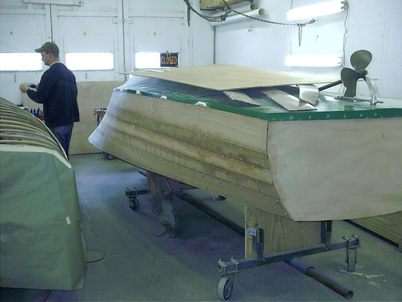 Last starboard plank fit.
