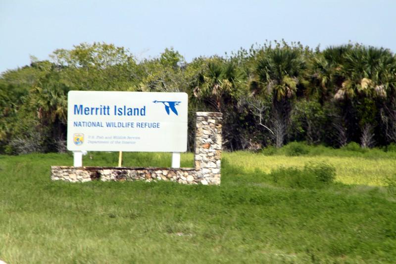 Sign for the Merritt Island National Wildlife Refuge