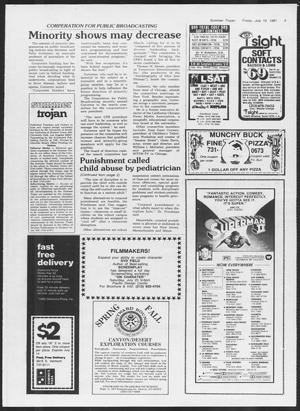 Summer Trojan, Vol. 90, No. 7, July 10, 1981