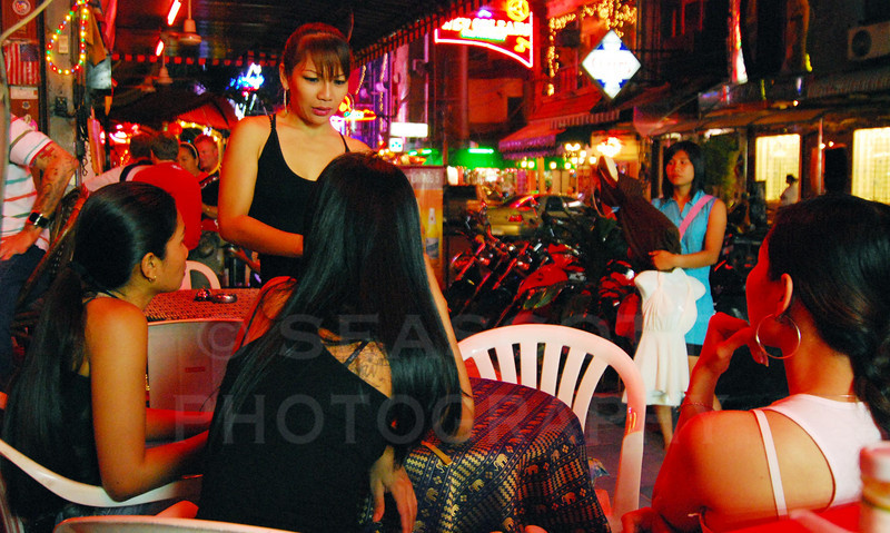 Early evening in the red light district.  Pattaya, Thailand.
