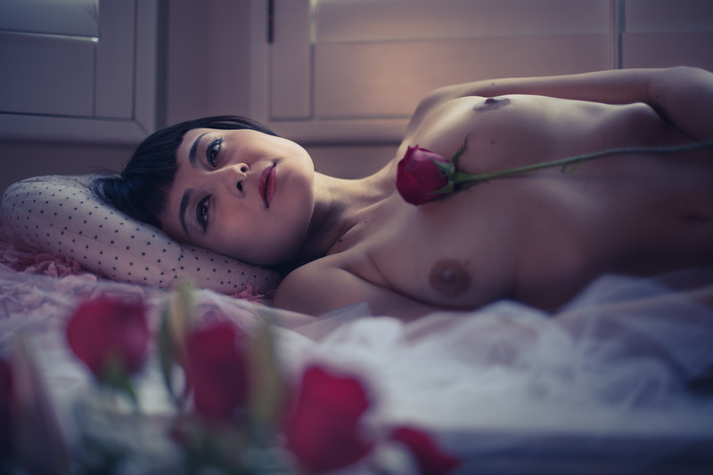 Sophia Jade with a rose