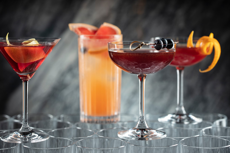 American drink set at Voyages by Alain Ducasse restaurant bar at Morpheus Macau.