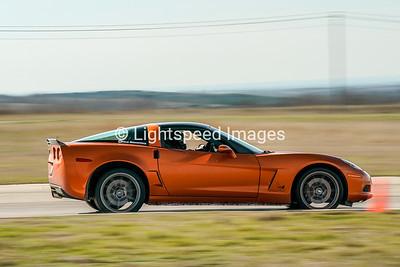 Orange C6 Corvette