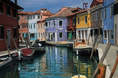 Burano Island waterway village, Italy