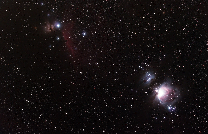 Nebulae in Orion - 1/12/2018 (Processed Stack)