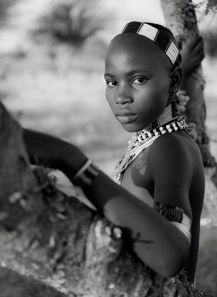 Girl from the Hamar tribe.