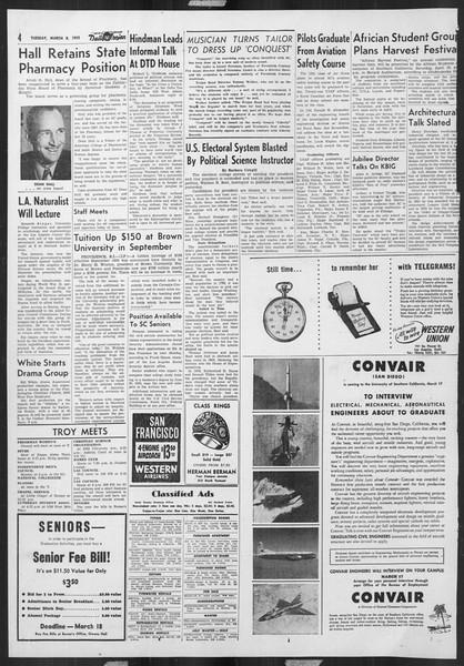 Daily Trojan, Vol. 46, No. 92, March 08, 1955