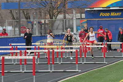 100 Meters Hurdles - 2013 Oakland vs Detroit Track Meet
