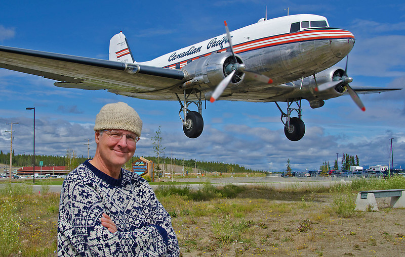 Charles Scott and a low flier, Whitehorse, YT.