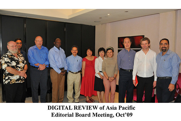 Digital Review of Asia Pacific (DirAP) Editorial Board Meeting at Singapore, 19-20th Oct 2009