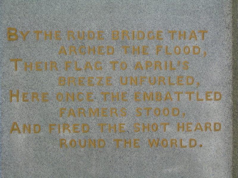 On the Old North Bridge Monument - Concord