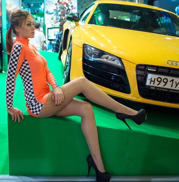 Anna as Forza 5 model at Igromir 2013