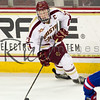 CHESTNUT HILL, MA - JANUARY 17: (Patrick Brown #23 of the Boston College Eagles) The University of Massachusetts-Lowell River Hawks faced the Boston College Eagles during NCAA hockey action at Kelley Rink on February 21, 2014 in Chestnut Hill, Massachusetts. The Eagles won 3-0.