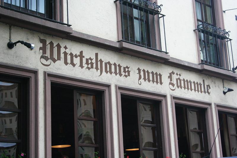 Wurzburg,Germany - Wirtshaus