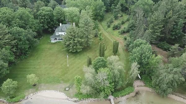 Walloon lake house drone video